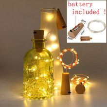 Included Batteries 10PCS 2M LED String Lamps Wine Bottle Stopper Fairy Lights Wire Cork Garland For Party Wedding Decoration