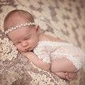 Реквизит для детской фотографии кружевной комбинезон детская одежда черный белый комбинезон для маленьких девочек Одежда для новорожденн...