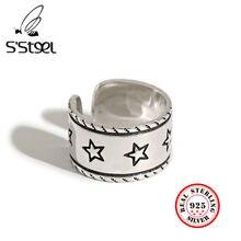 Корейские кольца s'steel 925 пробы серебро для женщин звездная