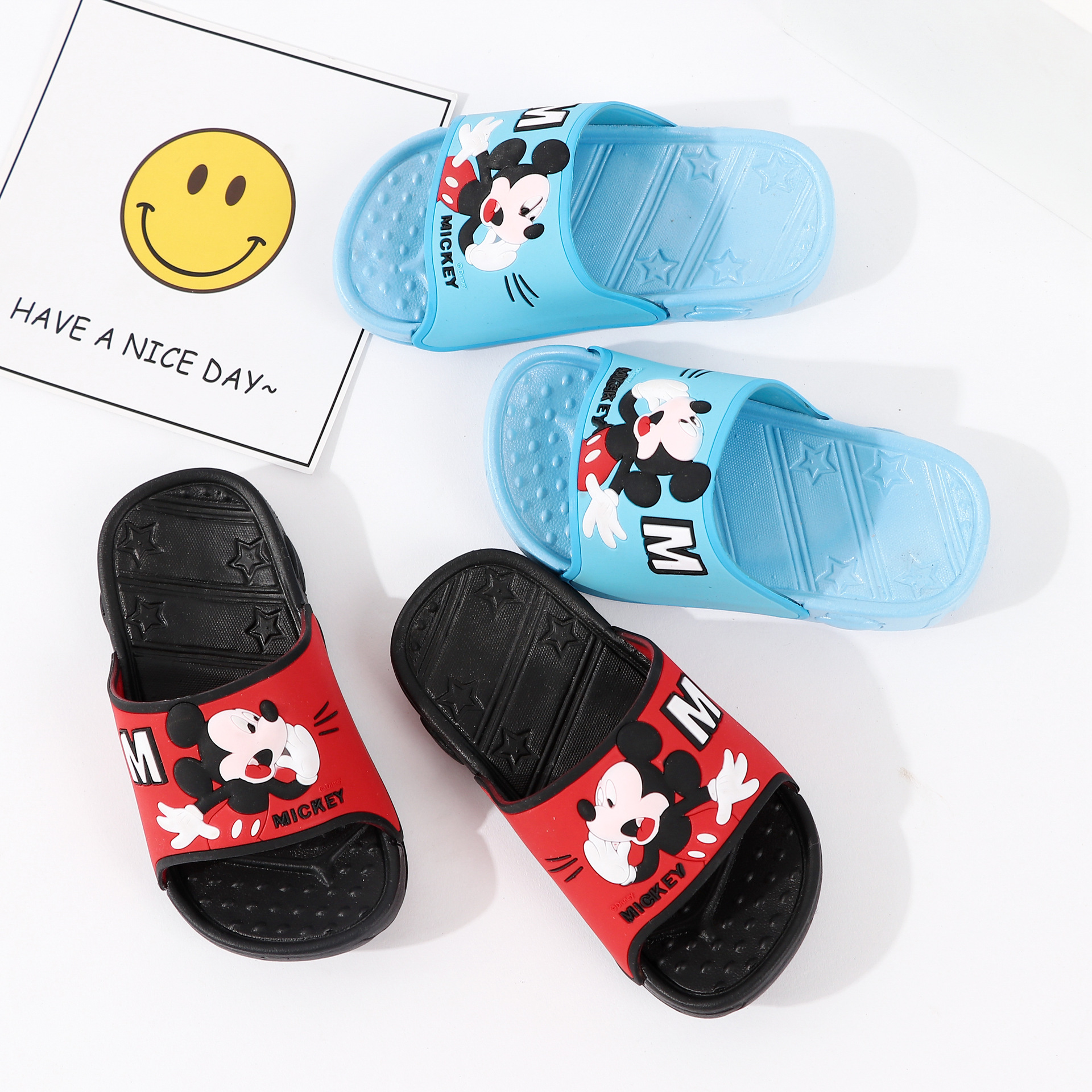 2020 New Summer Children Cartoon Mickey Slipper Baby Boys Home Shoe Kids Antiskid Slippers Beach Shoes Kids Flip Flops