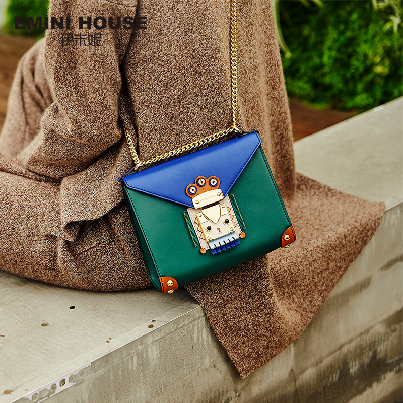 Chain Bag Crossbody-Bags Emini-House Indian-Style Flap-Bag Leather Women for Shoulder