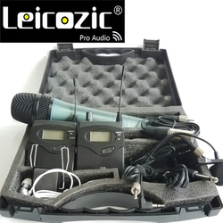 Leicozic Wireless tour guide system BK1038 DSLR Camera Interview Recording 2 transmitter 1 receiver wireless monitor 740-771Mhz