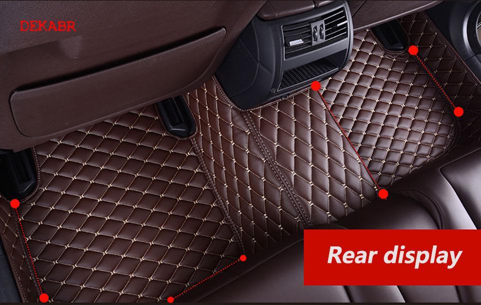 Dekabr Lsrtw 2017 Fiber Leather Car Floor Mat For Tesla Model X 2015 2016 2017 2018 2019 2020 5seats 6 Seats7 Seats Sticker - 4