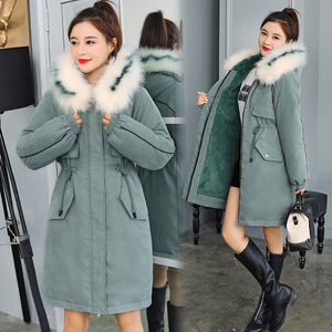 Image 4 -  30 Degrees New 2020 Women Winter Jacket Hooded Fur Collar Female Winter Coat Long Parkas with Fur Lining Plus Size Fur Parka