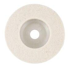 10 шт. 4 дюйма полировка металлического стекла шлифовальная машина колеса шерсть фетр Полировочный диск Pad 100 мм