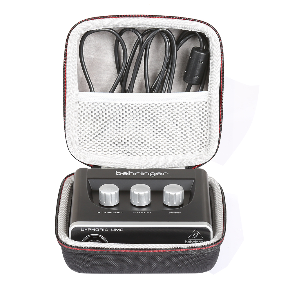 2020 Newest Hard EVA Portable Travel Bag Case For BEHRINGER Audio Interface (UM2) Carrying Storage Box