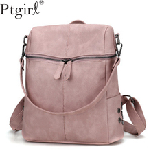 цена на Casual Large Capacity Shoulder Bags Vintage Women Ptgirl Backpack Nubuck Leather Pu School Backpacks For Teenage Girls Boys Sac
