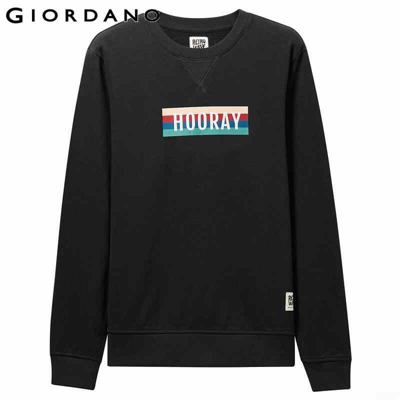 Giordano Frauen Sweatshirt Raglan Sleeve Terry Kleidung Mode Junge Dame Pullover Gedruckt Sudadera Mujer Vintage 13399701