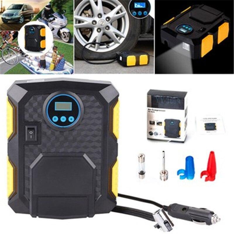 Автомобильный воздушный насос, автомобильный светильник, воздушный насос для шин, 12 В, портативный аварийный цифровой указатель, цифровой насос для шин, вольт, автомобильный воздушный компрессор