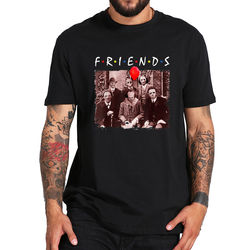 EU Size 100% Cotton   T     Shirt   Maniac Park Friends Horror Movie   T     Shirt   Halloween Horror Film lovers TShirt Crewneck Soft   Shirt