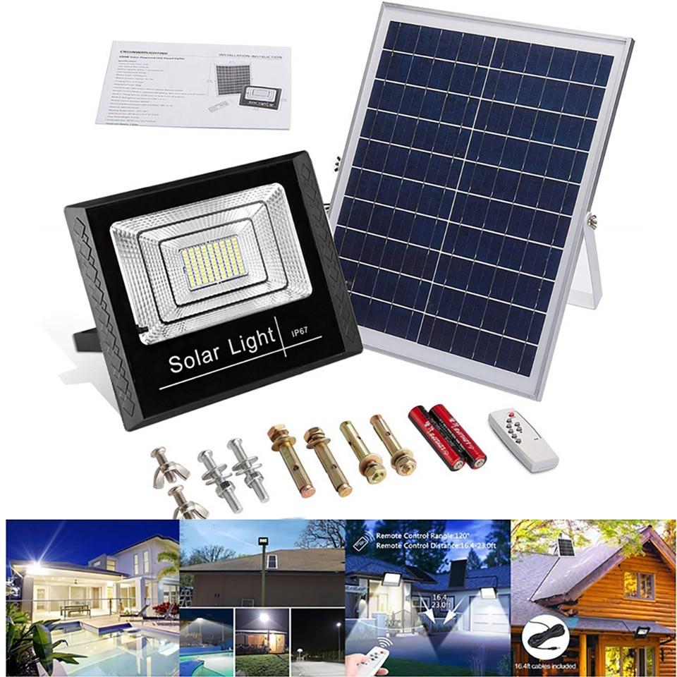 25W/45W/65W Solar Street Light  Outdoor Waterproof LED Floodlight Solar Wall Lamp IP67 For Outdoor Park Garden Solar Flood Light