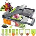Многофункциональный резак для овощей прибор для резки фруктов сливная корзина ручной Veget измельчитель 12 в 1 Кухня аксессуары