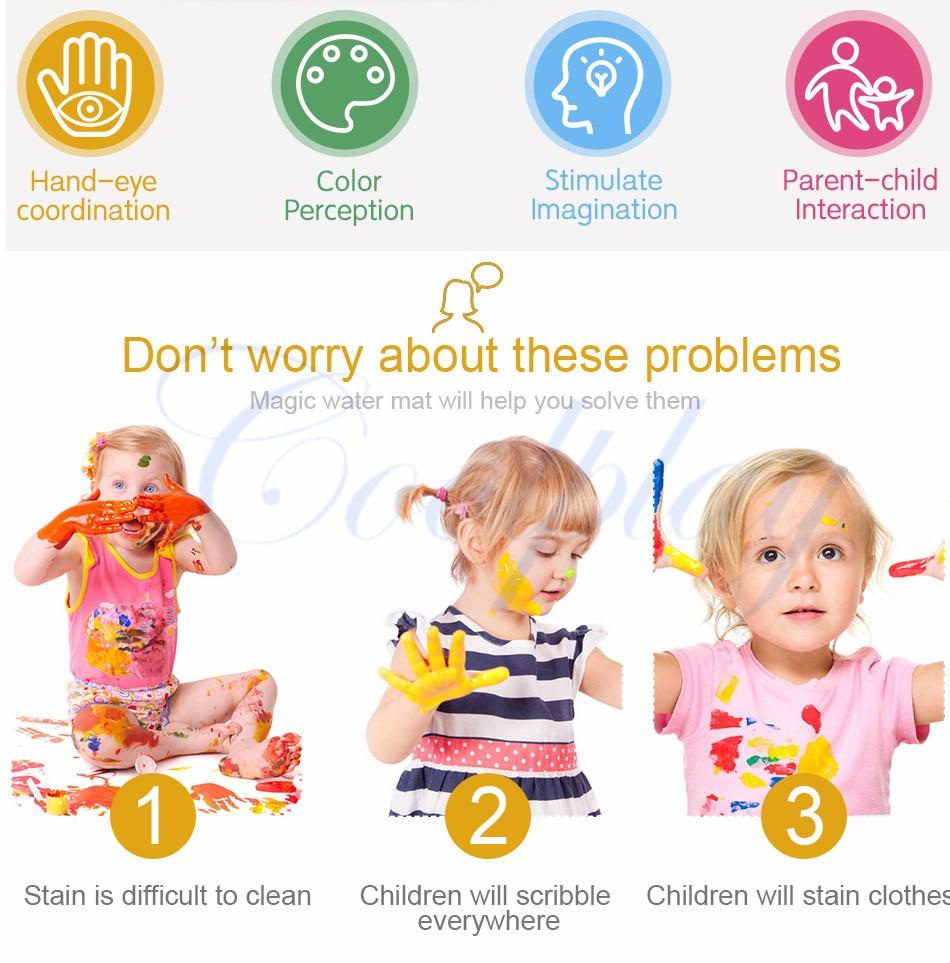 esteira & canetas & selo crianças quadro