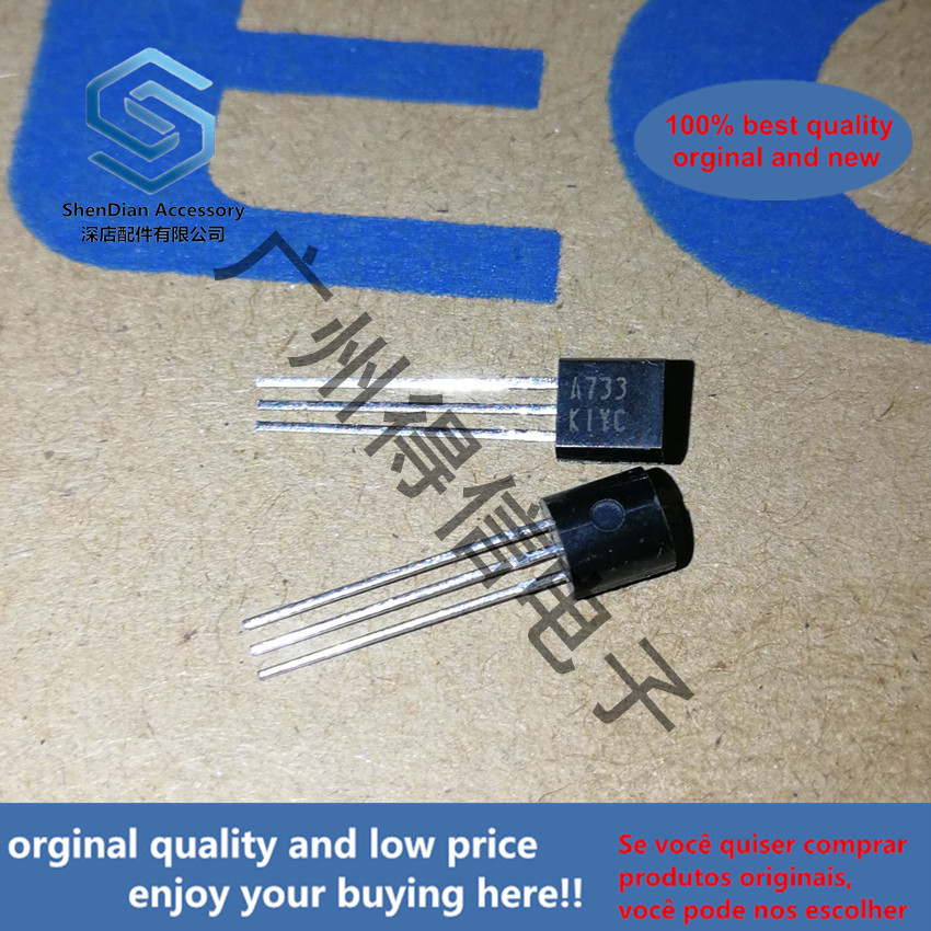 50pcs 100% Orginal New 2SA733K A733 Large Volume 300 ~ 600 TO-92 PNP SILICON TRANSISTOR Real Photo