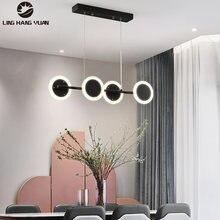 Современный светодиодный подвесной светильник золотистый и черный