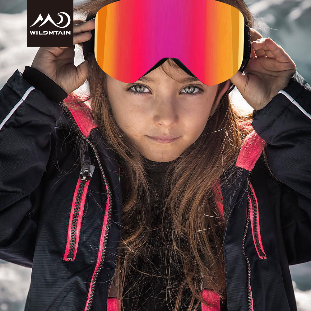WILDMTAIN Kids Ski Goggles, 5 To 18 Years Boys And Girls, Magnetic Snow Goggles Anti Fog Lens, UV400, Youth Kids Ski Glasses