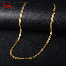 Sunny Jewelry Fashion 750 Copper Link Necklaces Chains For Women Man High Quality Classic Trendy For Daily Wear Gift Anniversary