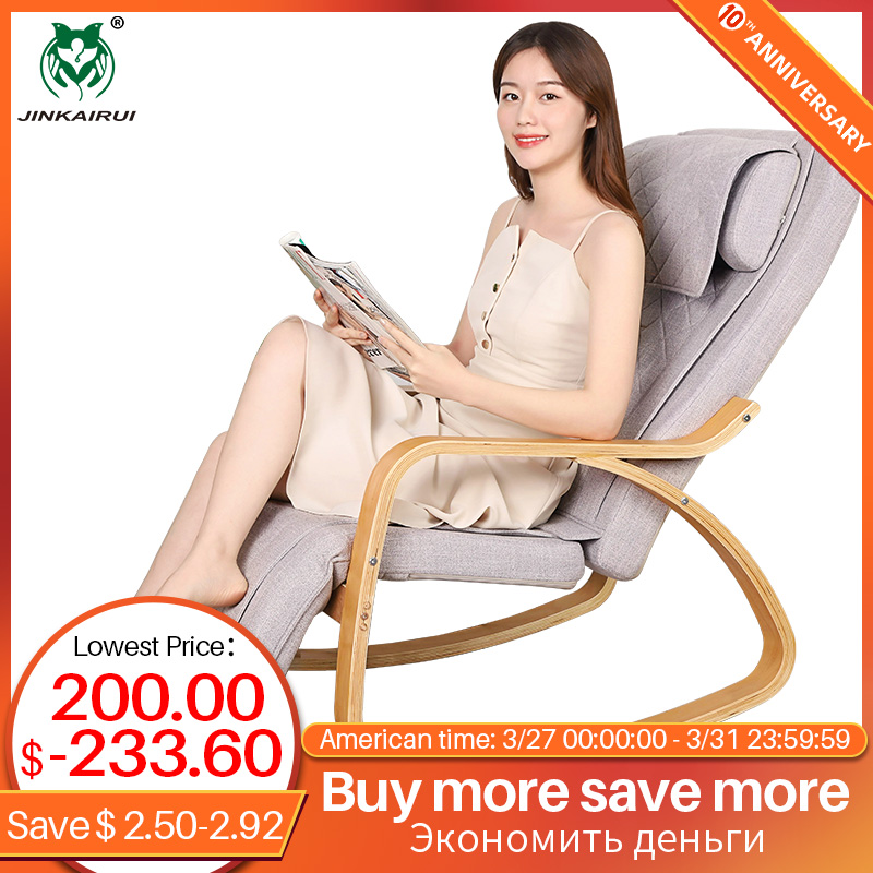 Jinkairui Kneading Heating Massage Chair Relive Neck Back Body Pain Enjoyful Relax At Home Gift To Parents Dropshipping Support