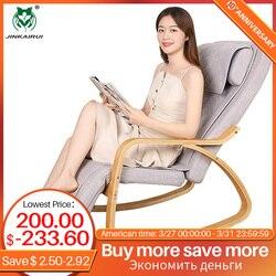 Jinkairui, silla de masaje con calefacción para amasar el cuello, el dolor de espalda, cuerpo, relajación agradable en casa, regalo para los padres, soporte de Dropshipping