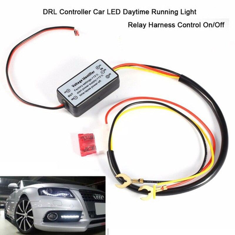 Контроллер DRL автомобильные провода дневные ходовые огни светильник реле Автоматическое включение/OFF жгут модуль контроллера выключатель ...