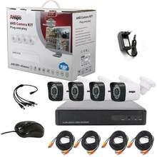 4ch 1080p cctv sistema de câmera de segurança 5 em 1 dvr ir-corte de vigilância em casa impermeável ao ar livre cor branca