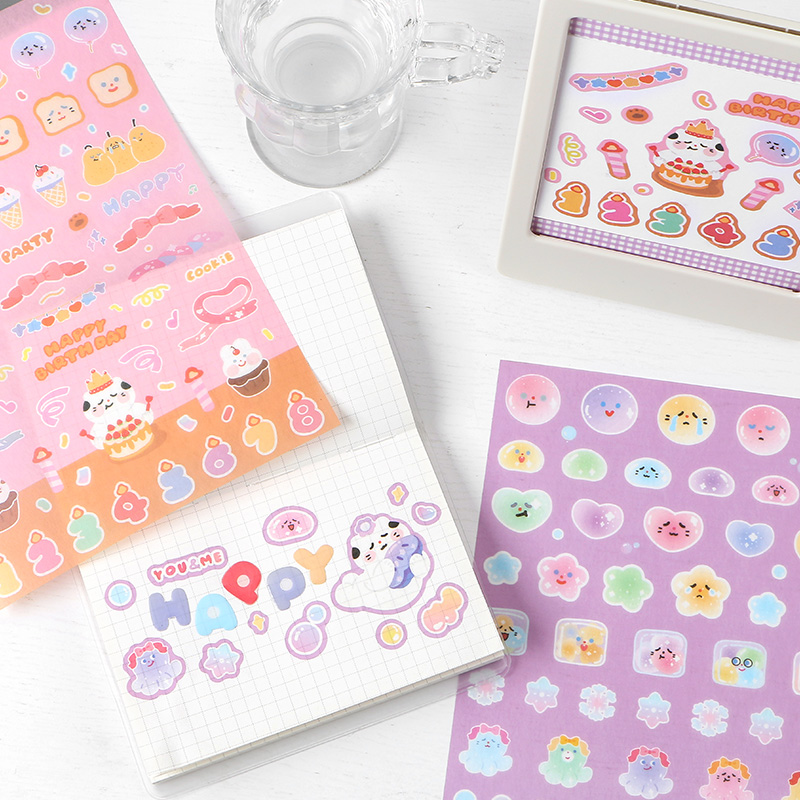 INS Life Emotion Record Sticker DIY Scrapbooking journal Diary Happy Plan Mobile Computer Gift Sealing Decoration Sticker Stickers  - AliExpress