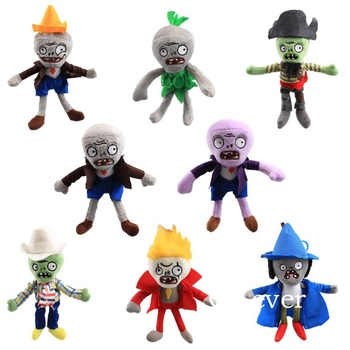 17cm Plants vs Zombies Plush doll Toys kawaii Wizard Conehead Zombie Figure Stuffed Plush Toys keychain Children Birthday Gift image