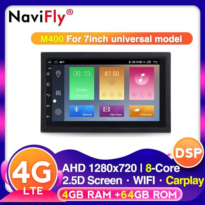NaviFly Голосовое управление 2din универсальный 4G RAM 64G ROM android 10 для NISSAN VW hyundai Toyota автомобильный мультимедийный dvd плеер Мультимедиаплеер для авто      АлиЭкспресс