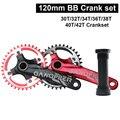 175 мм длина Fatbike Fat bike crank set 120 мм 104 мм 104BCD Crankset Chainwheel 22T 26T 30T 32T 36T узкое широкое кольцо