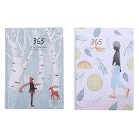 HOT-2Pcs Kreative Hardcover Jahr Plan Notebook 365 Tage Innere Seite Monatliche Täglichen Planer Veranstalter Tagebuch-Blätter + Zitrone  multi
