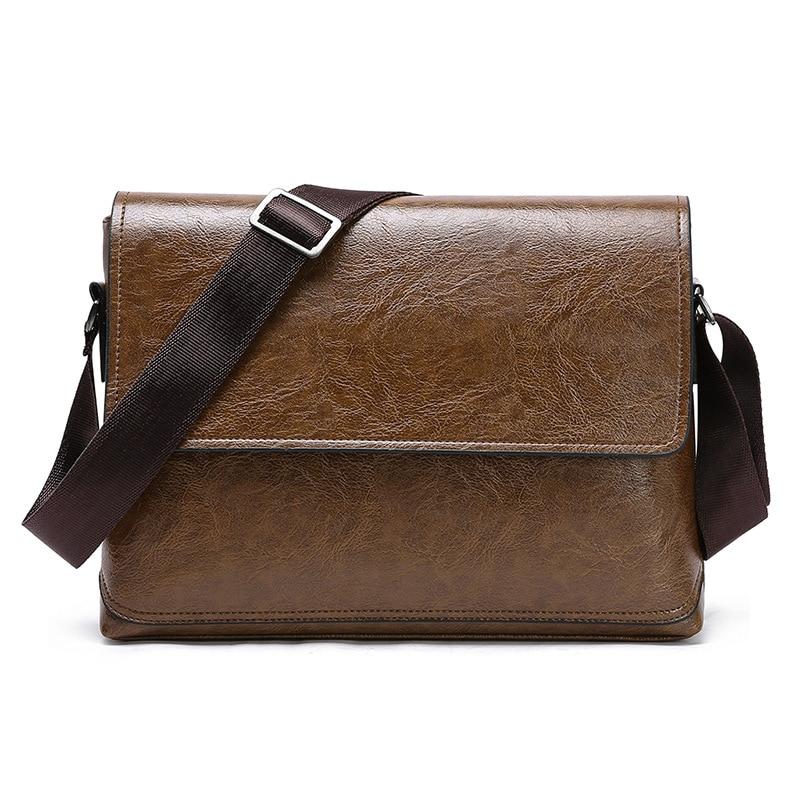 2020 High Quality Mens PU Leather Business Briefcase Handbag Laptop Shoulder Messenger Satchel  Bag