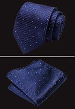 7.5cm Ties for Man 100% Silk Tie Luxury Striped Business Handkerchief Necktie Men Cravat Wedding Party Accessories