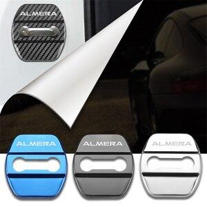 Крышка дверного замка автомобиля, Стайлинг автомобиля, автомобильные эмблемы, чехол для Nissan Almera G15 N16, аксессуары