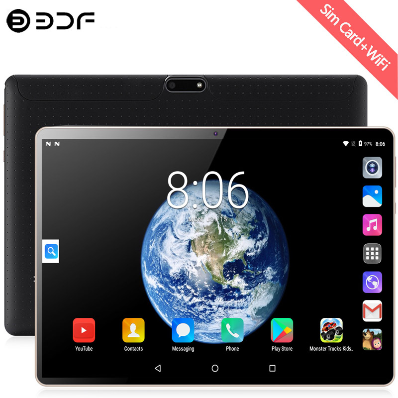 New System 10.1 Inch Tablet Android 7.0 Quad Core 3G/4G Phone Call 2GB+32GB Dual SIM Support Wi-Fi Bluetooth Tablet PC+Keyboard