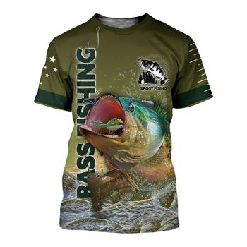 Bass and lure fishing T shirt all over print
