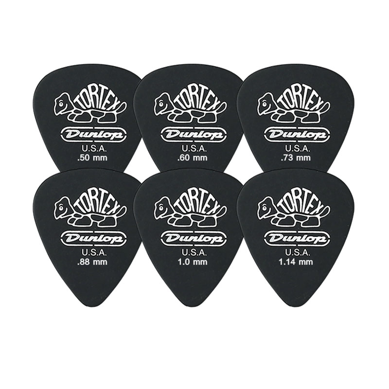 1 Pc Dunlop Tortex Black Guitar Picks Bass Mediator Acoustic Electric Accessories Classic Thickness 0.5/0.6/0.73/0.88/1.0/1.14mm