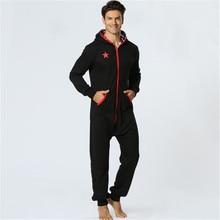 Fashion One Piece Pyjamas Men 2019 New Trend Hooded Sleep
