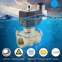Practical 3/4 Inch AC 220V 2W Square Coil Pure Copper Direct Acting Solenoid Valve Single Electromagnetic Valve Garden Connector|Garden Water Connectors| |  -