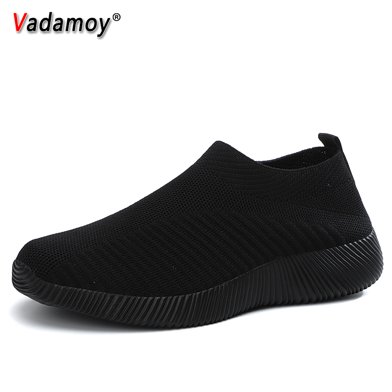 Women Shoes Sneakers Socks Vulcanized-Shoes Trainers Fashion Summer VADAMOY Casual Knitted