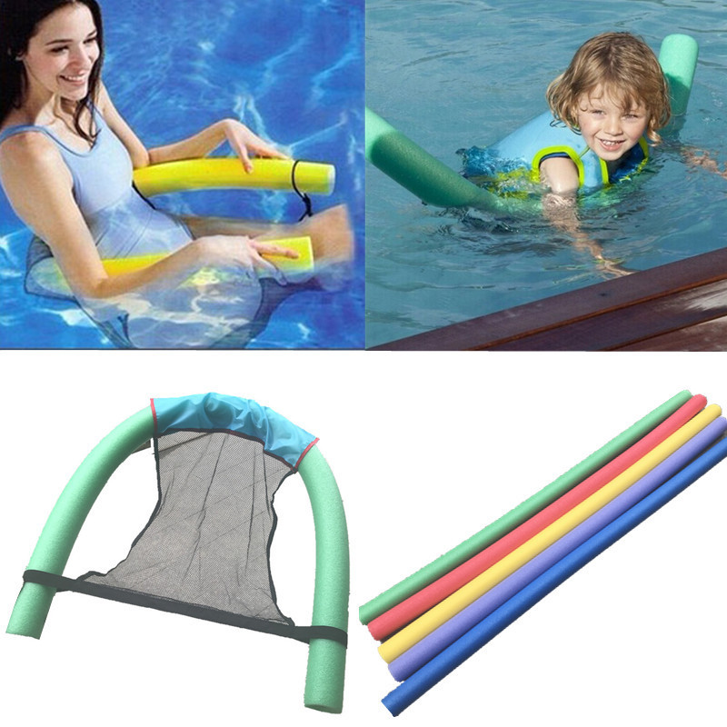 Polyester Floating Chair Pool Noodle Foam Sling Mesh Float Chair Net Swimming Party Kids Bed Seat Mat Relaxation Accessories
