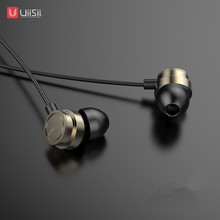 UiiSii HM13ตัดเสียงรบกวนแบบมีสายDynamic Heavy Bass Musicโลหะหูฟังพร้อมไมโครโฟนหูฟังสำหรับIphone Huawei Android IOS