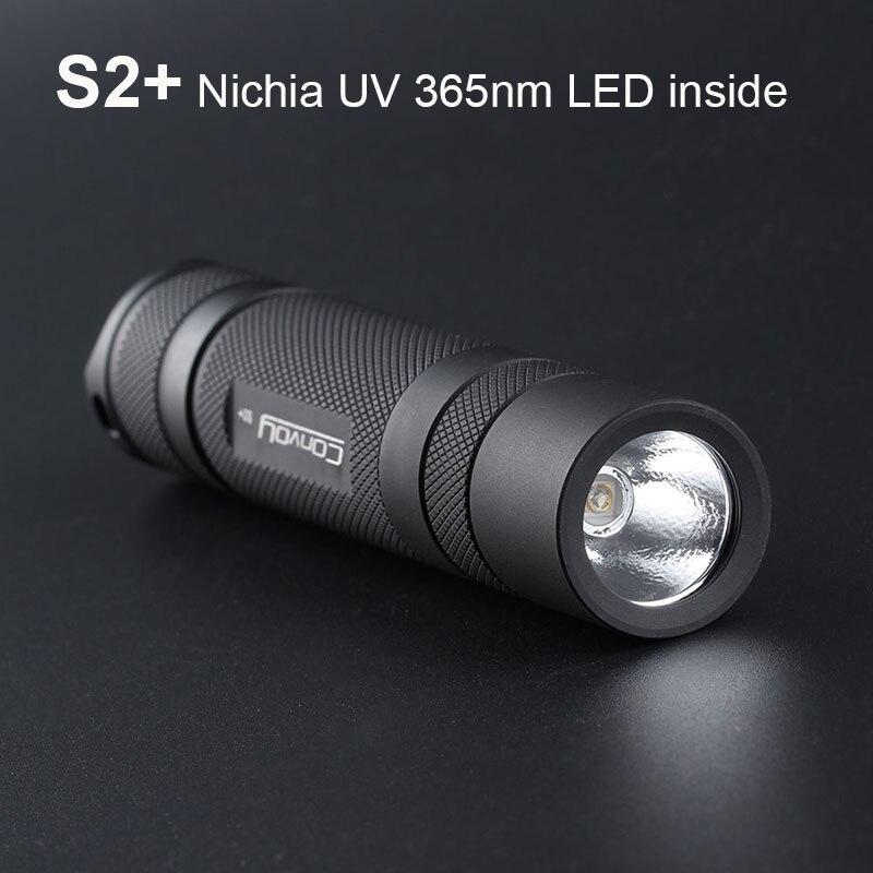 УФ фонарик светильник колонна S2 плюс с Nichia UV 365nm светодиодный внутри флуоресцентных агентов обнаружения Ультрафиолетовый ультрафиолетовый...