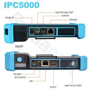 Image 3 - HIKVISION probador de Red HD coaxial CCTV, monitor IPC5000 PLUS, Dahua, herramienta de prueba, cable de red TDR, prueba WIFI, POE
