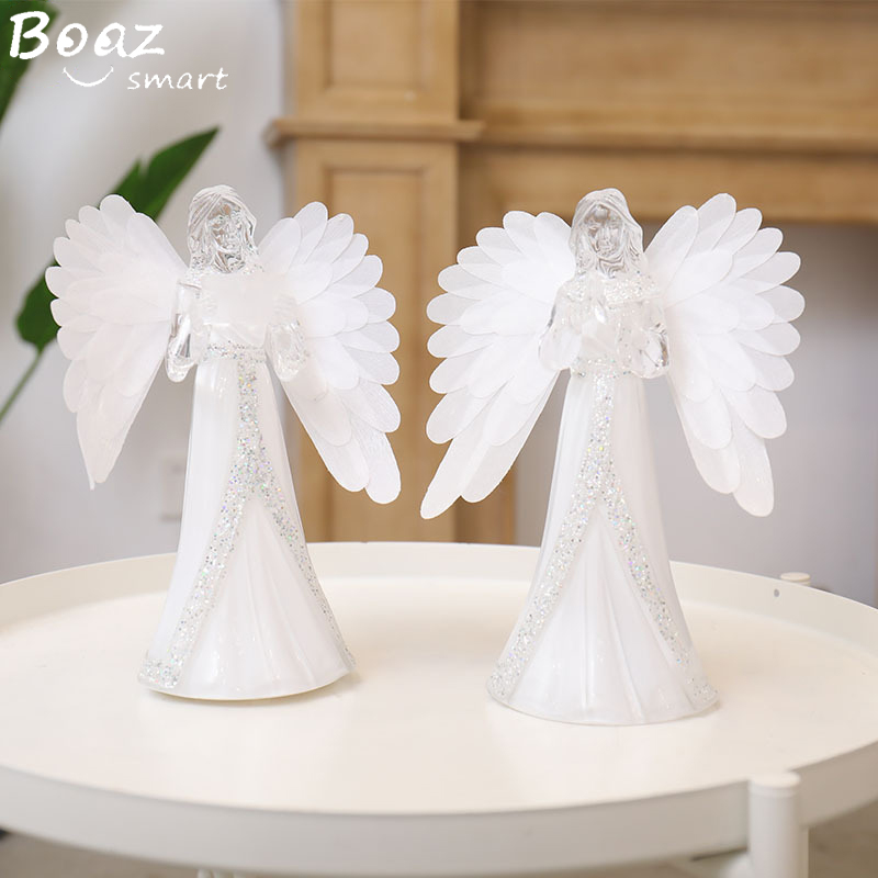 Boaz LED Angel Colorful Night Light Acrylic Flashing Ambient Light For Home Party Wedding Decoration Lamps Christmas Gifts
