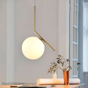Image 5 - Modern Glass Ball Pendant Light kitchen hanging lamps Hang Lamp Nordic Home Decor Light Fixtures christmas decorations for home