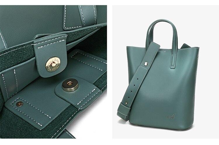 Bisonjs couro de luxo bolsas femininas sacos