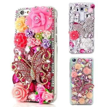 Women Handmade 3D Diamond Case Bling Rhinestone Phone Case For iPhone 8 6 6S 6plus 7 7 8 plus x xs max 11 Pro Max Cover