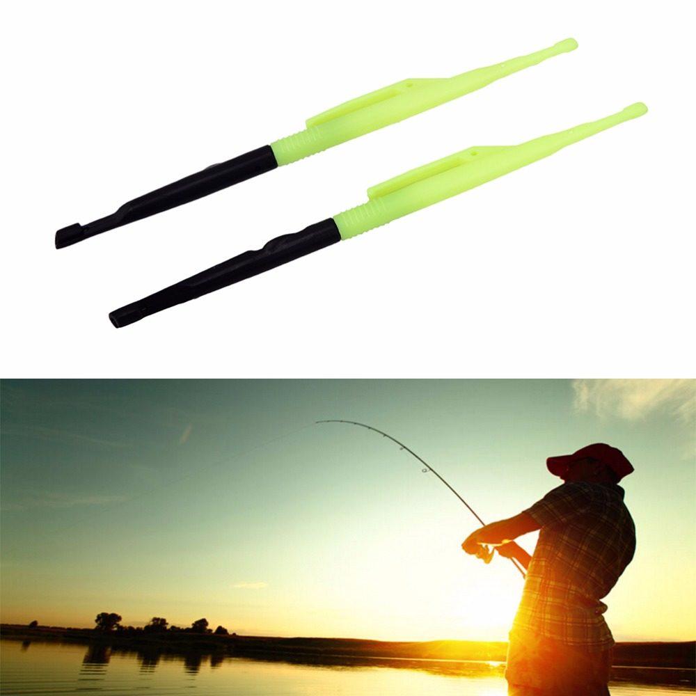 2Pcs Loop Tier Tool Fishing Hook Remover Unhook Extractor Knot Picker NeedlYRDE