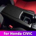 ABS углеродное волокно подлокотник защитный чехол декоративная модификация для Honda Civic 10th 2016 2017 2018 2019