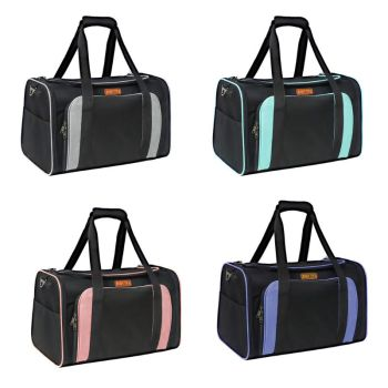 Cat Soft Sided Carriers with 2 Expandable Mesh Windows Small Pet Travel Bag 35EF